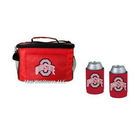OSU Buckeyes Beverage Cooler Gift Set - Ohio State Beverage