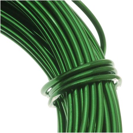 118 Wire Gauge - Aluminum Craft Wire Kelly Green 18 Gauge 39 Feet (11.8 Meters)