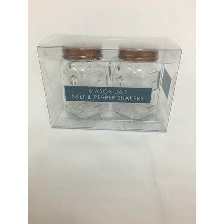 Olde Thompson Mason Jar Shaker Set With Copper Lids