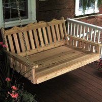A & L Furniture Western Red Cedar Royal English Swing Bed