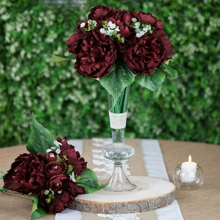 Blush Wedding Decor (Efavormart 12'' Tall Peony Artificial Silk Flowers - For DIY Wedding Party)