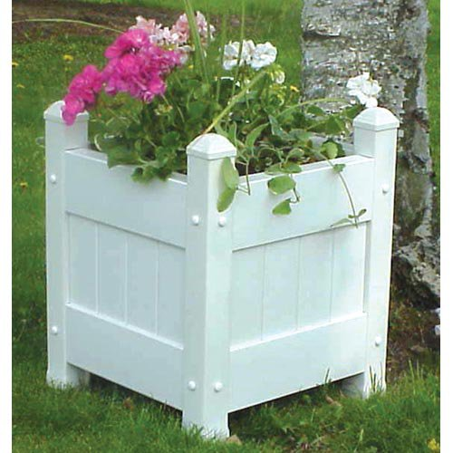 Small Planter Box in White Finish