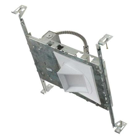 NICOR Lighting 5-Inch Square Adjustable Gimbal 2700K LED Downlight Fixture with Housing (Adjustable Gimbal Housing)