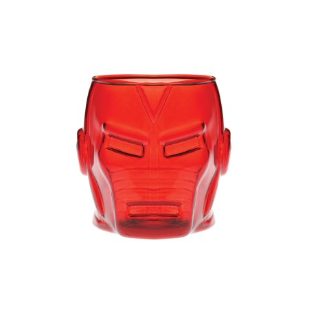 ICUP Marvel Avengers Head Shaped Drinking Glasses - 18 oz Colored Glass - Multi Colored Drinking Glasses