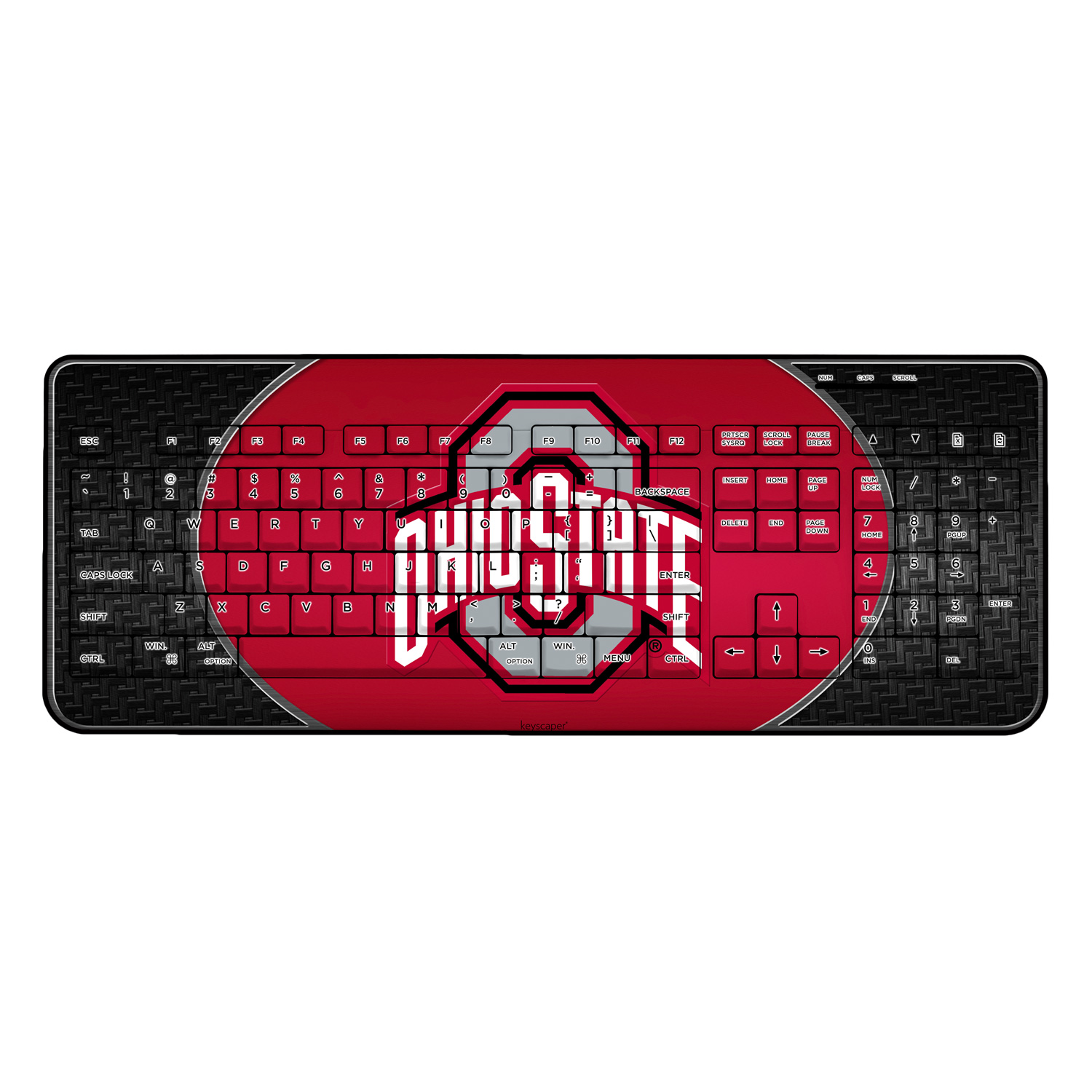 Ohio State University Wireless USB Keyboard NCAA