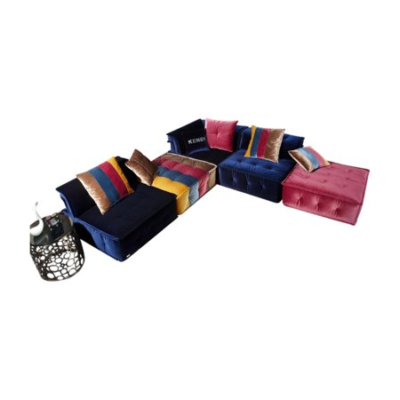 VIG Furniture Divani Casa Dubai Transitional Fabric Sectional Sofa ()