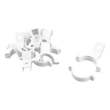 Plastic Single Dish LNB Bracket Holder Mount 40mm Dia White 6 Pcs for Ku