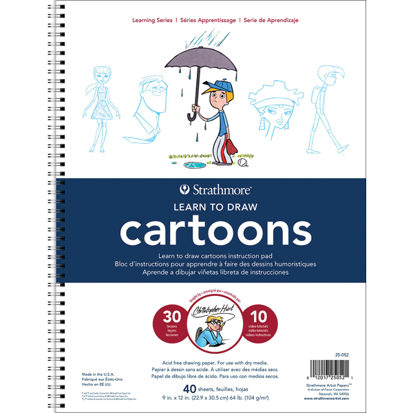 Strathmore Learn To Draw Wire Pad 9 Inch X 12 Inch-Cartoons