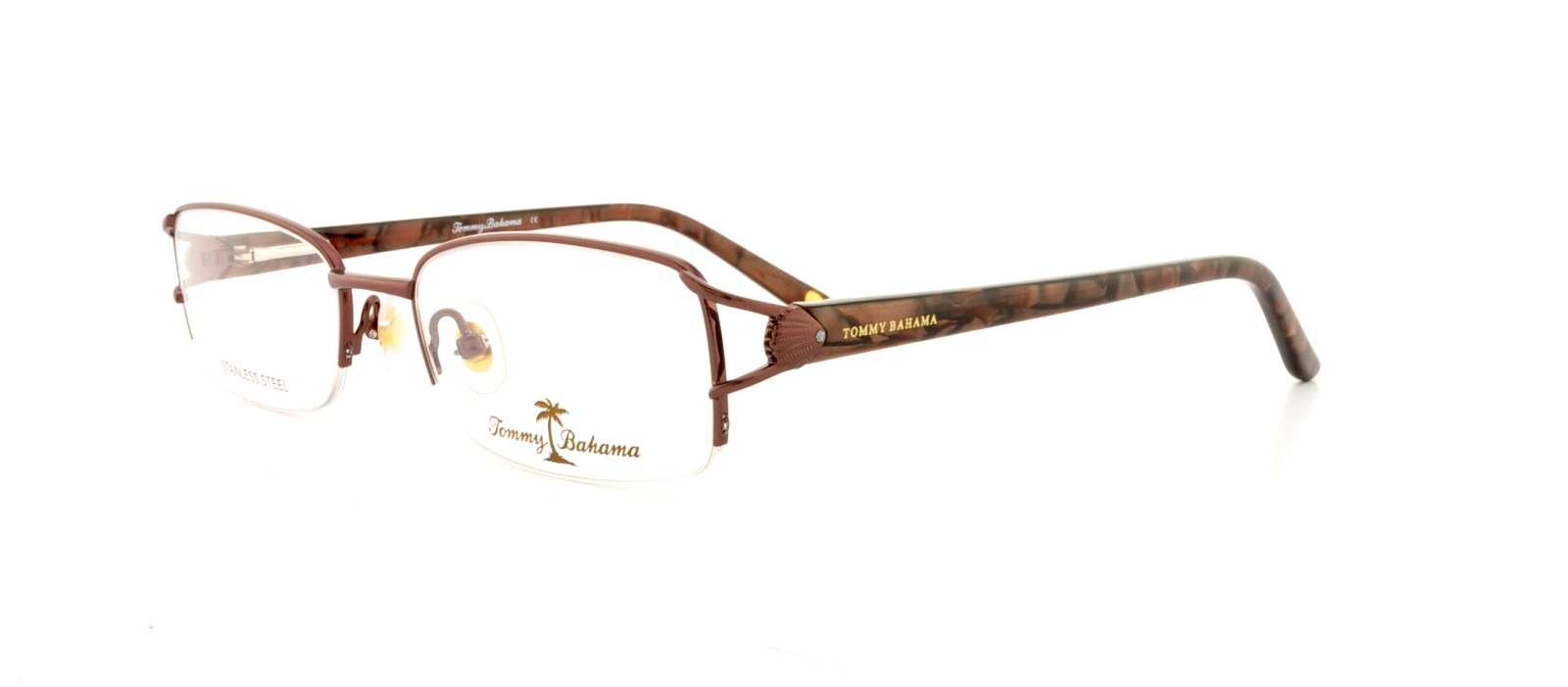 TOMMY BAHAMA Eyeglasses TB5011 001 Brown 48MM - Walmart.com