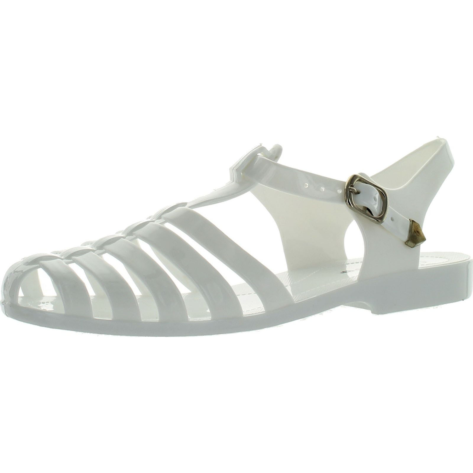 2ea8ad37b Static Footwear - Forever Womens Jedi Summer T-Strap Retro Jelly Rain Flat  Sandals - Walmart.com