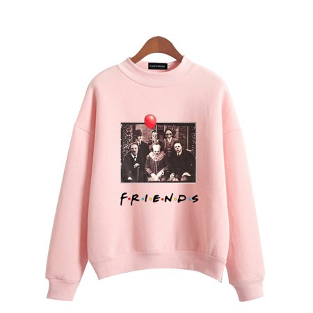 Halloween Oxford 2019 (Fancyleo 2019 Halloween Horror Friends Hoodie Casual Long Sleeve Printed Friends Pullover)