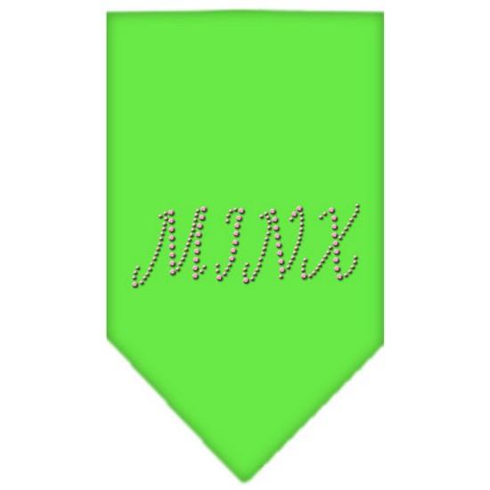 Minx Rhinestone Bandana Lime Green Large
