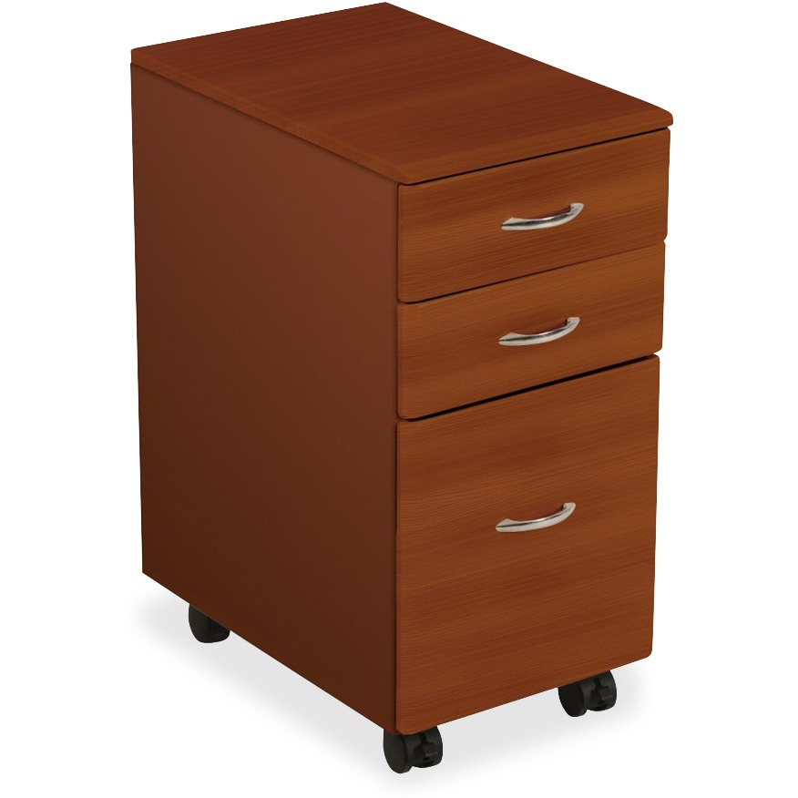 Balt 3 Drawers Vertical Filing Cabinet, Cherry