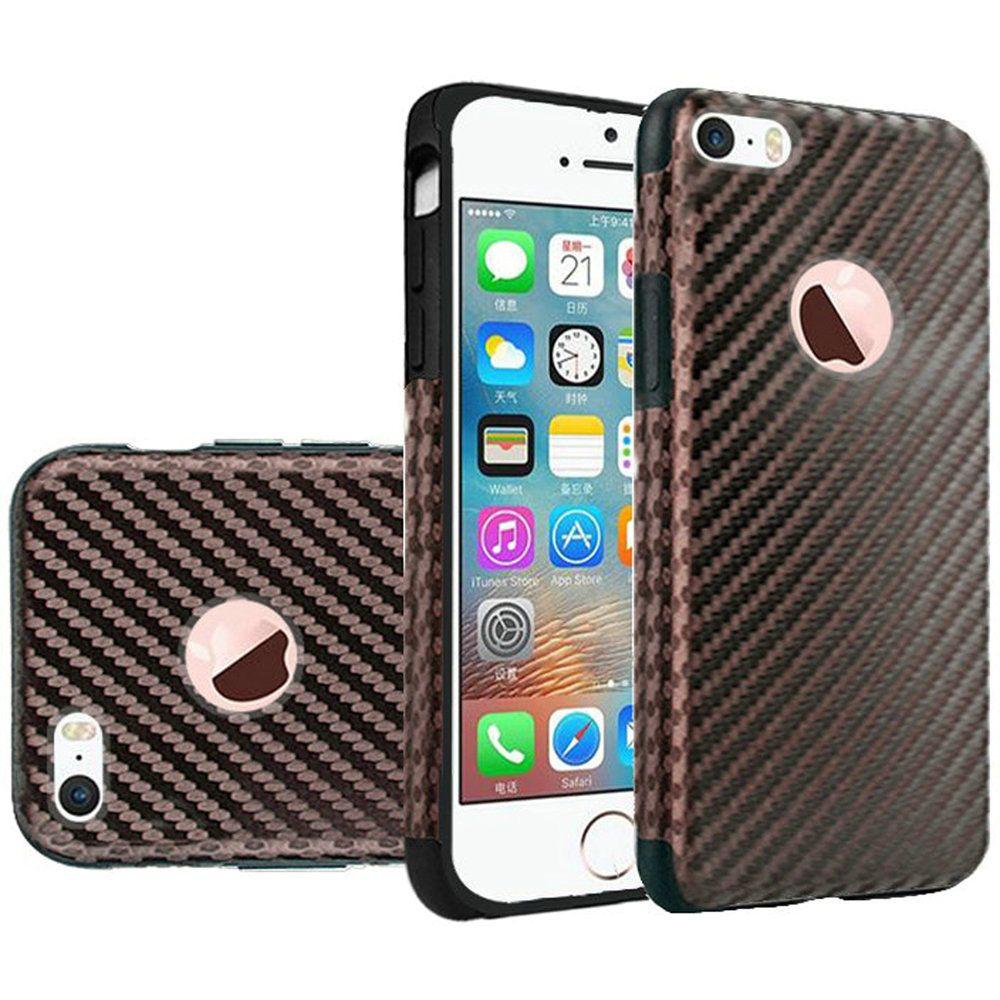 For Apple iPhone SE iPhone 5 iPhone 5S Premium Series Light Thin Non-Slip TPU Case - Glitter Black