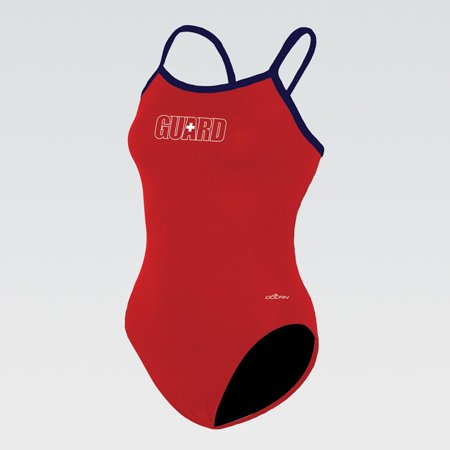 (Price/each)Dolfin 9601C - Varsity Solid String Back-Guard Red/Navy-24