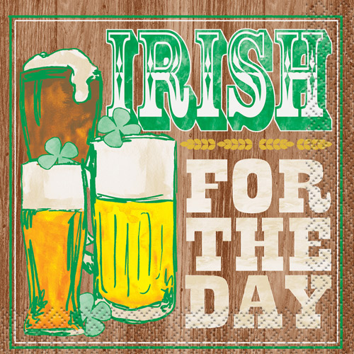 Irish for the Day Saint Patrick's Day Cocktail Napkins, 16 Count