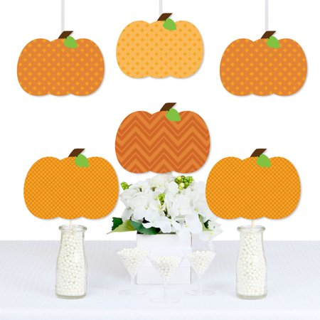 Pumpkin Patch - Pumpkin Decorations DIY Fall & Halloween Party Essentials - Set of 20](Diy Halloween Decoration)