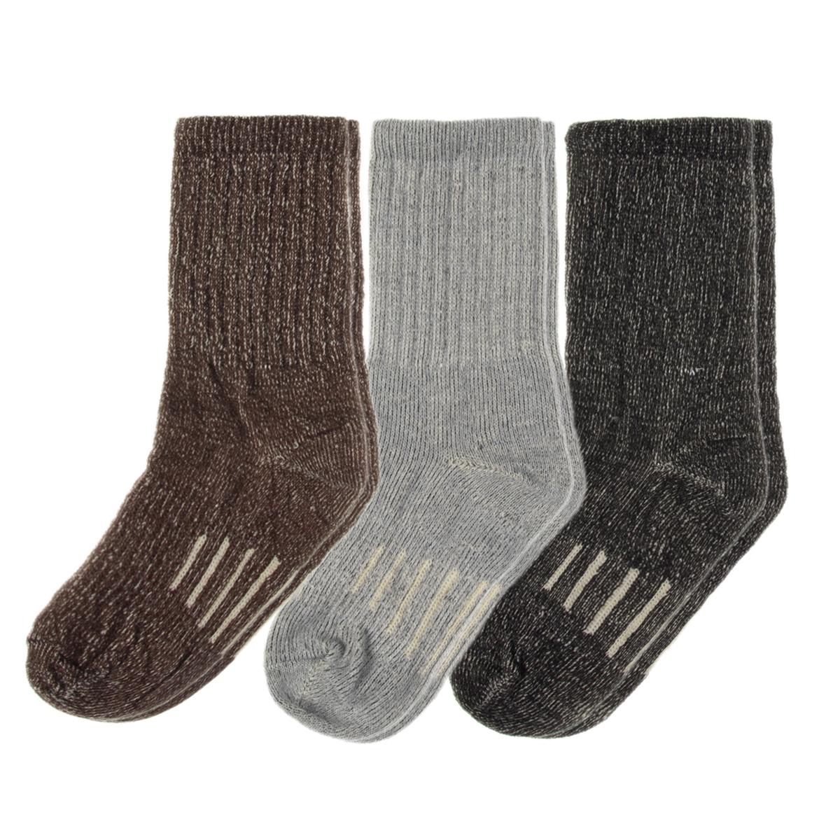 3 Pairs Thermal 80% Merino Wool Socks Hiking Crew Winter Mens Womens Kid's by Wool Socks