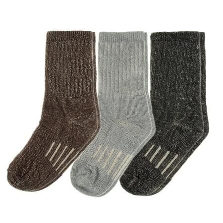 3 Pairs Thermal 80% Merino Wool Socks Hiking Crew Winter Mens Womens Kid