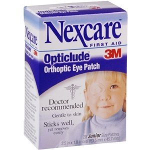 Nexcare Opticlude Orthoptic Eye Patches, Gentle to Skin, Junior Size, 20 Count](Eye Patch Leather)