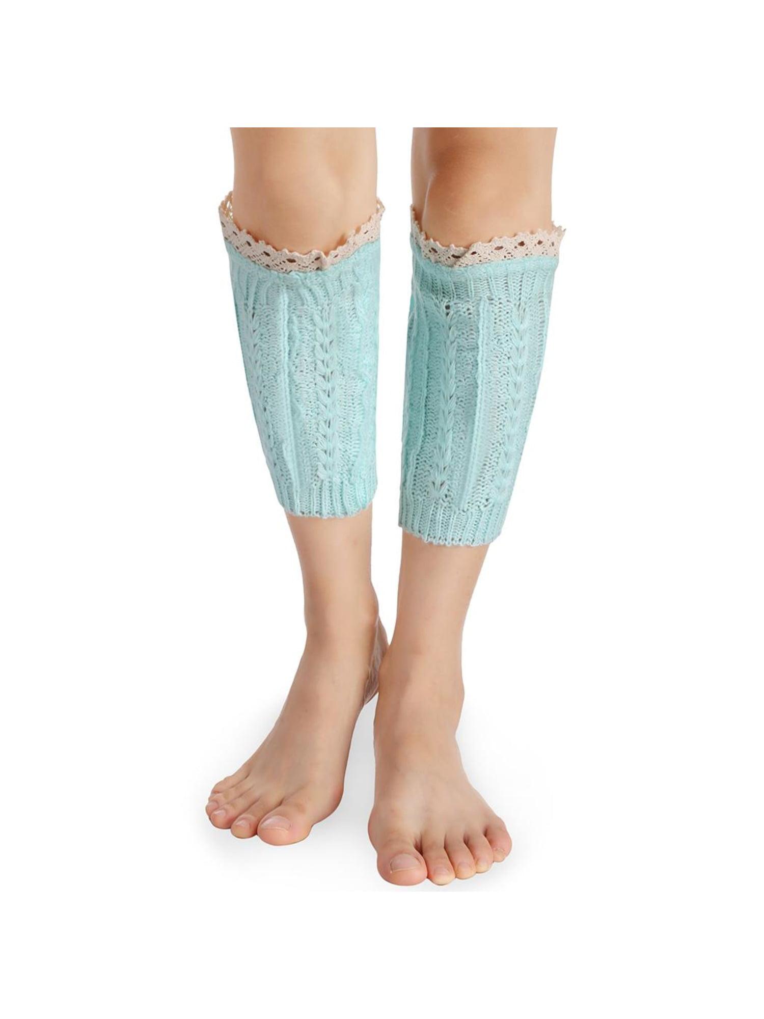 Women Fashion Casual Knit Crochet Hollow Out Boot Cuffs Leg Socks Warmer WSY