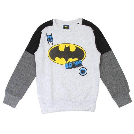 DC Comics Little Boys' Batman Lightweight Long Sleeve Top (4)