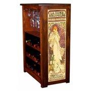 """""""La Dame Aux Camelias"""" by Mucha Wine Cabinet"""