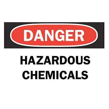 BRADY 122519 CHEMICAL & HAZARDOUS MATERIALS SIGN