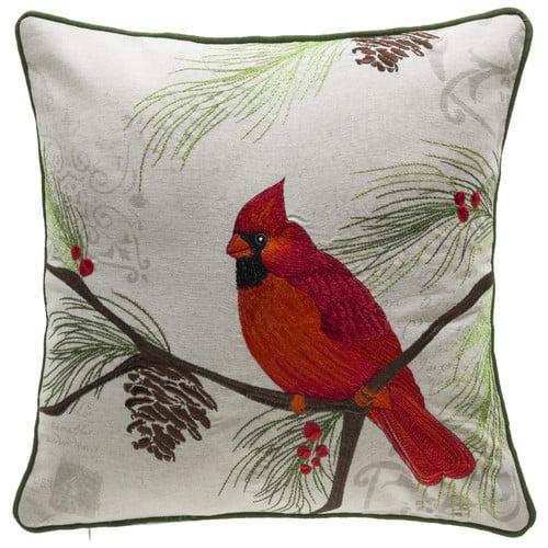 Click here to buy 14 Karat Home Inc. Christmas Cardinal Throw Pillow by Overstock.