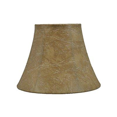 urbanest softback bell lampshade, faux leather, 5x9x7, spider