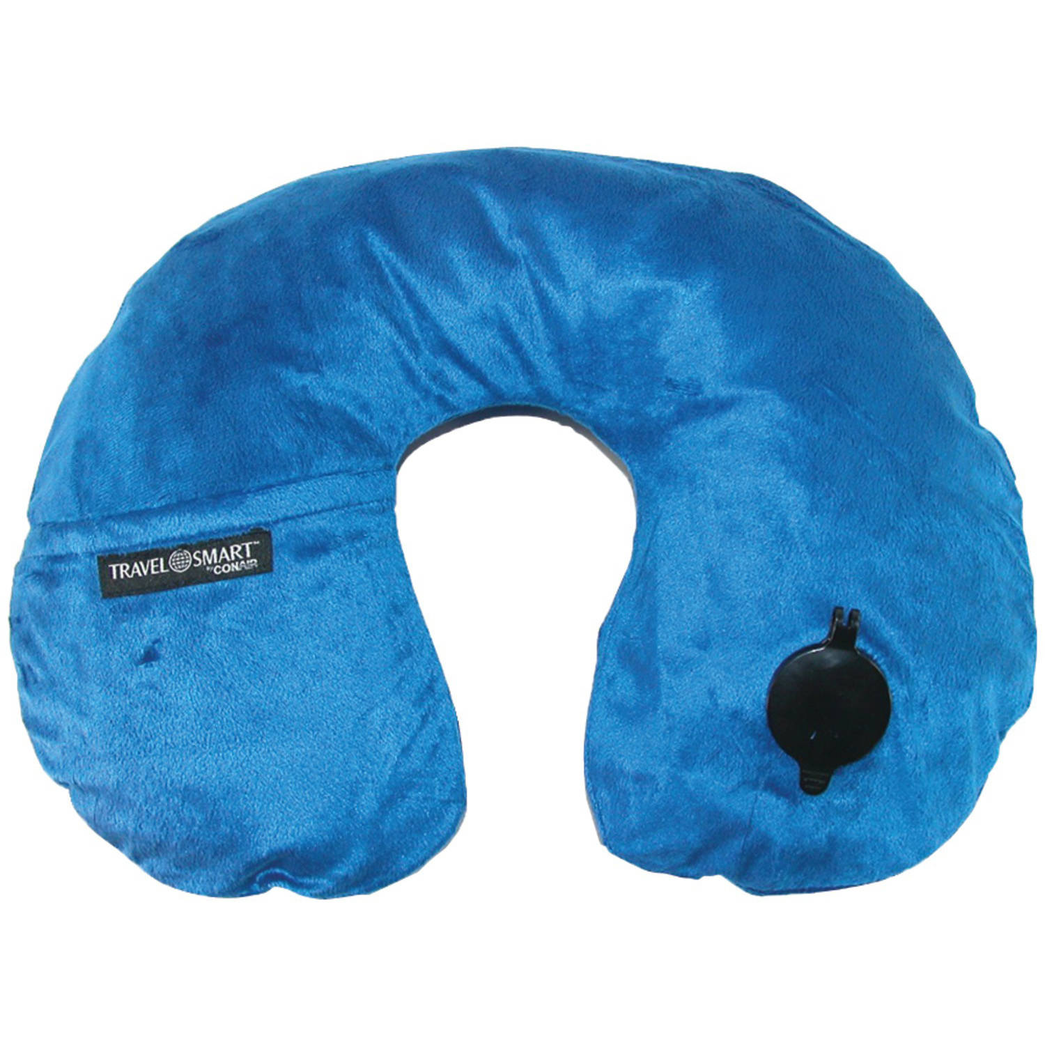 Travel Smart Ts44Nvy Ez Inflate Fleece Neck Rest, Navy