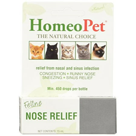 HomeoPet® Feline Nose Relief, 15 mL (New Homeopet)