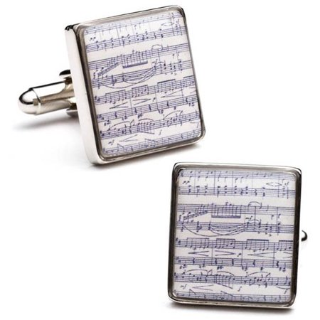 Cufflinks CC-MSC-SL Classical Sheet Music Cufflinks