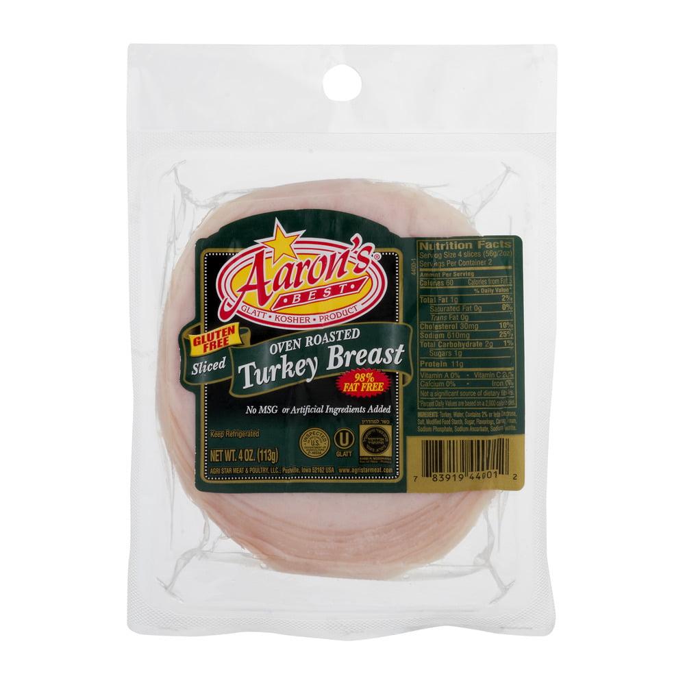 Image of Aaron's Best Gluten Free Sliced Oven Roasted Turkey Breast, 4.0 OZ