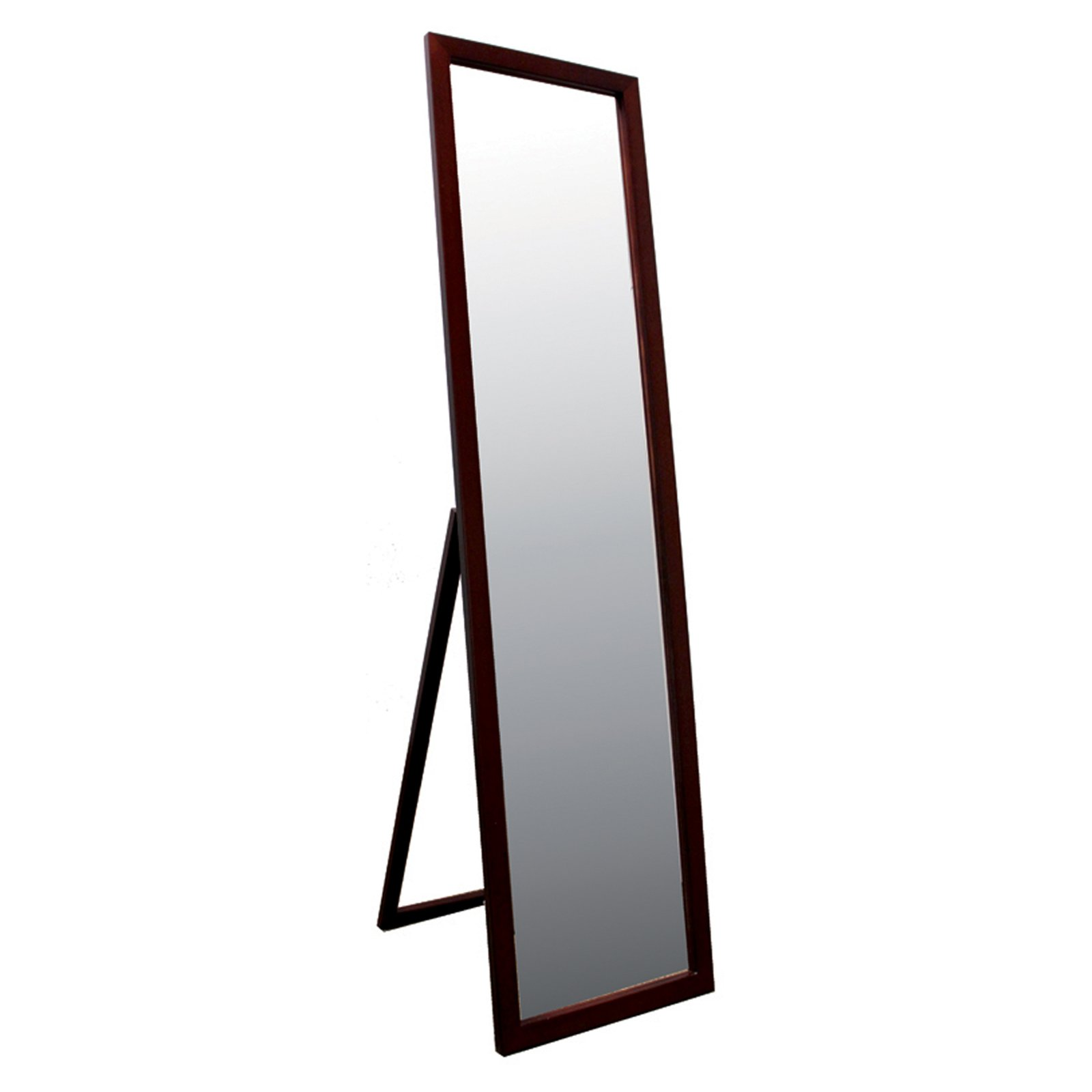 Stand Mirror Walnut Finish