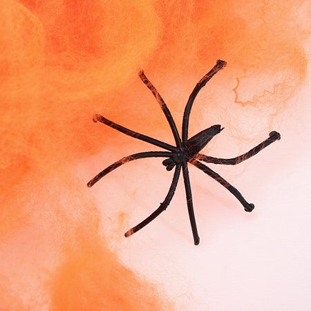 2x Spider + Spider Web for Halloween Decoration Prank Scary Toy Bar Game Props - image 1 de 5
