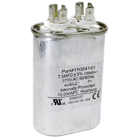 Hayward HPX11024151 7.5 Uf Fan Run Capacitor for Heat Pump ()