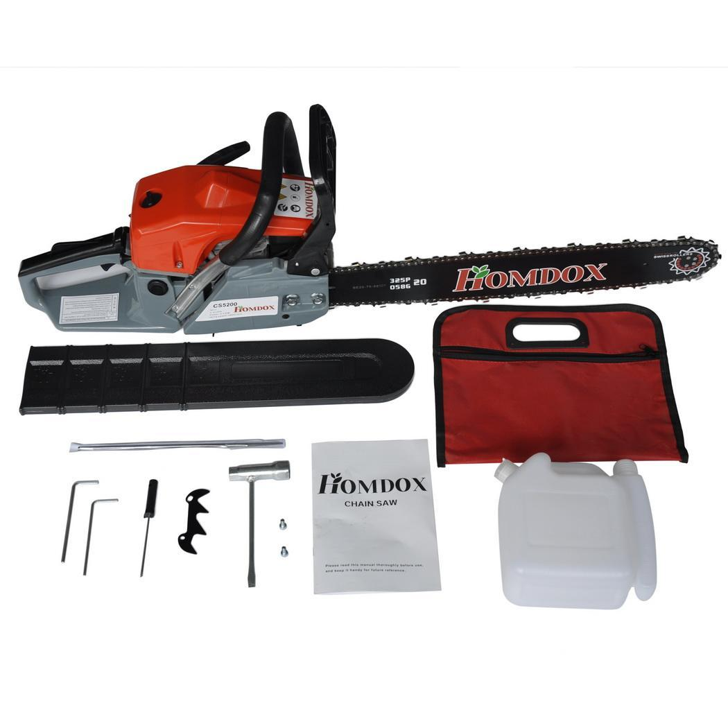 Clearance! 22 Inch Gas Chainsaw with 2 Stroke On Sale for Cutting Woods  52cc
