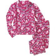 Girls 2 Piece Micro Fleece Coat Set