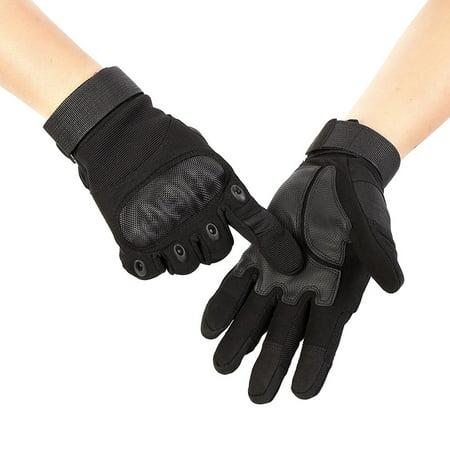 Full Hands Gloves - Men Outdoor Gloves Rock Climbing Rubber Full Fingers Gloves Hand Protector