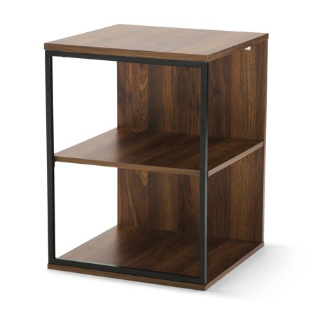 Mainstays Kalla Wood and Metal 3 Shelf End Table, Multiple Colors (Scale End)