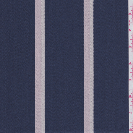 Blue Striped Fabric - Dark Blue Stripe Upholstery Cotton, Fabric By the Yard