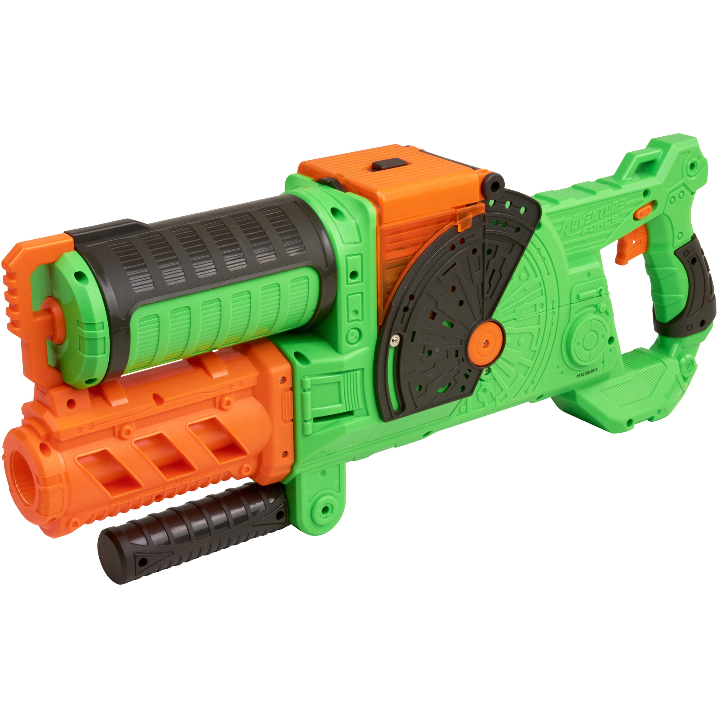 Adventure Force CommandFire Motorized Full-Auto Dart Blaster, Green