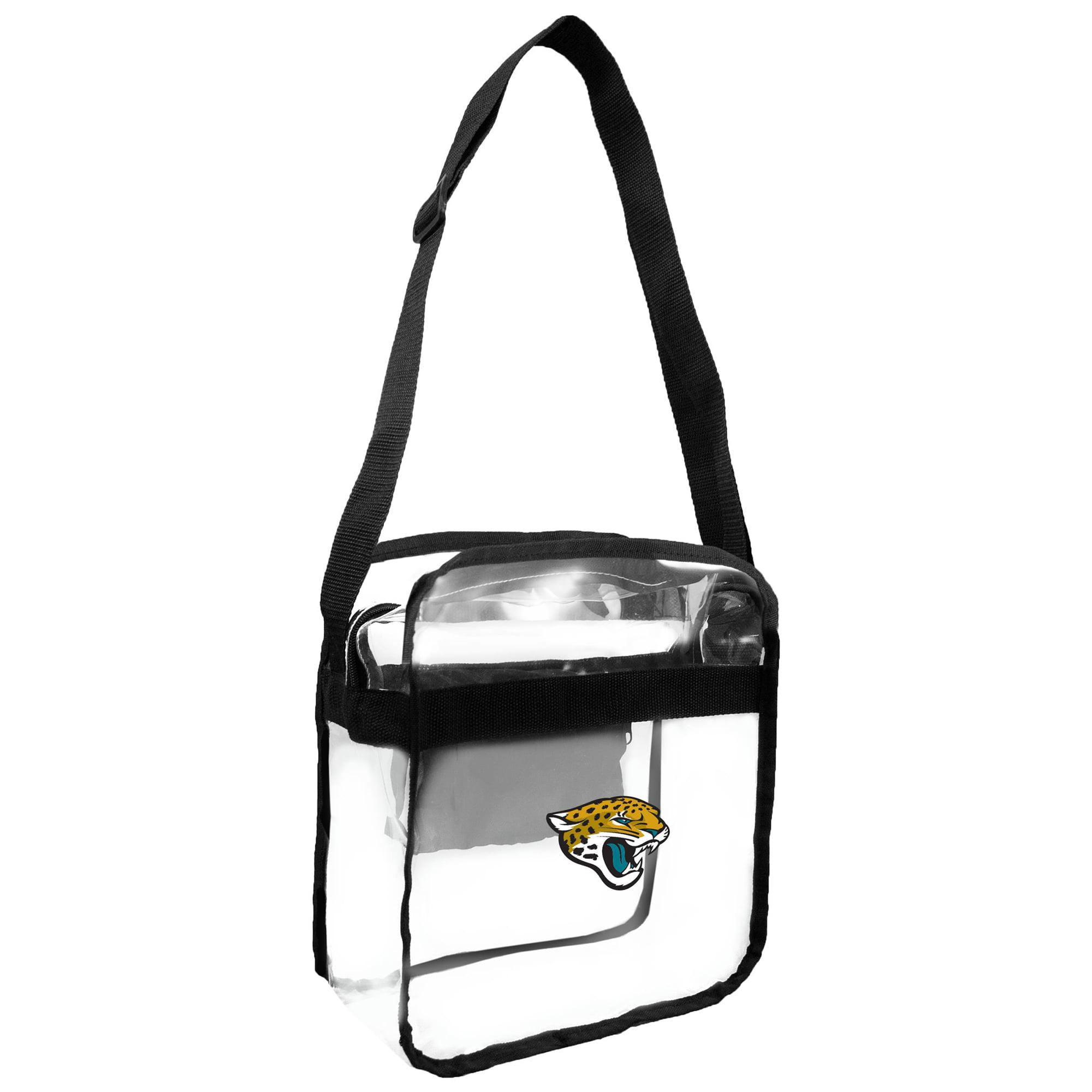 Little Earth - NFL Clear Carryall Cross Body Bag, Jacksonville Jaguars