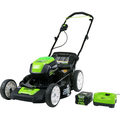 Greenworks 2501202 Pro 80V Cordless Lithium-Ion 21 in. 3-in-1 Lawn Mower by Sunrise Global Marketing, LLC