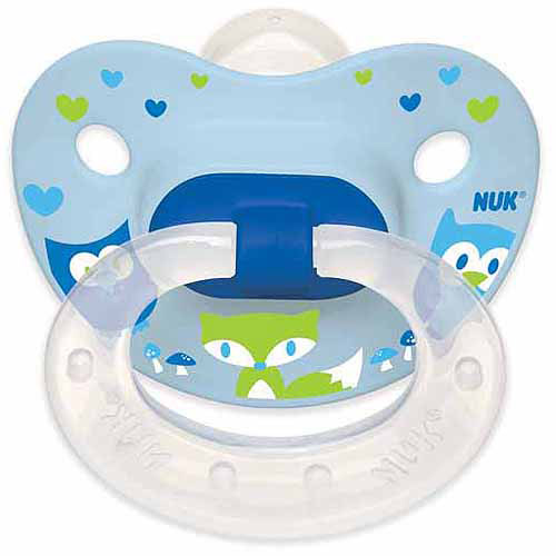 NUK Woodlands Pacifier, 6-18 Months, 4-Pack, Silicone, Boy
