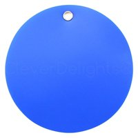 """25 Pack - CleverDelights Blue Plastic Tags - 2"""" Round - Tear-Proof and Waterproof"""