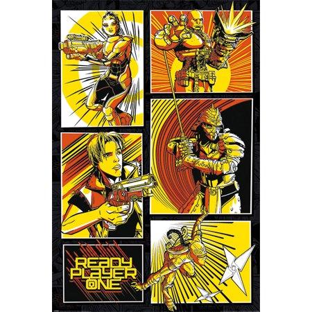 Shoe Comic Strip (Ready Player One - Movie Poster / Print (Comic Strips) (Size: 24