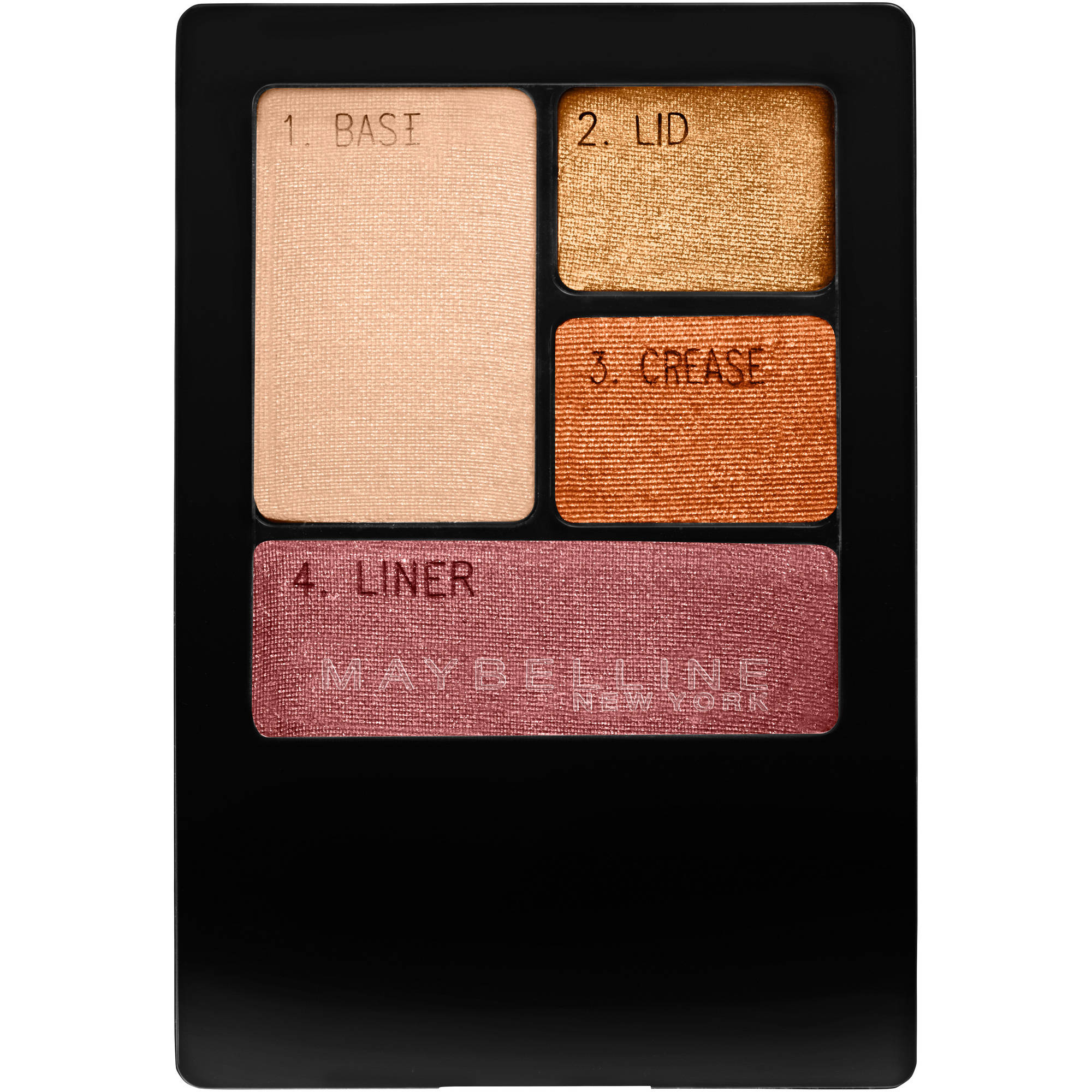 Maybelline New York Expert Wear Eyeshadow Quads, Sunlit Bronze, 0.17 oz
