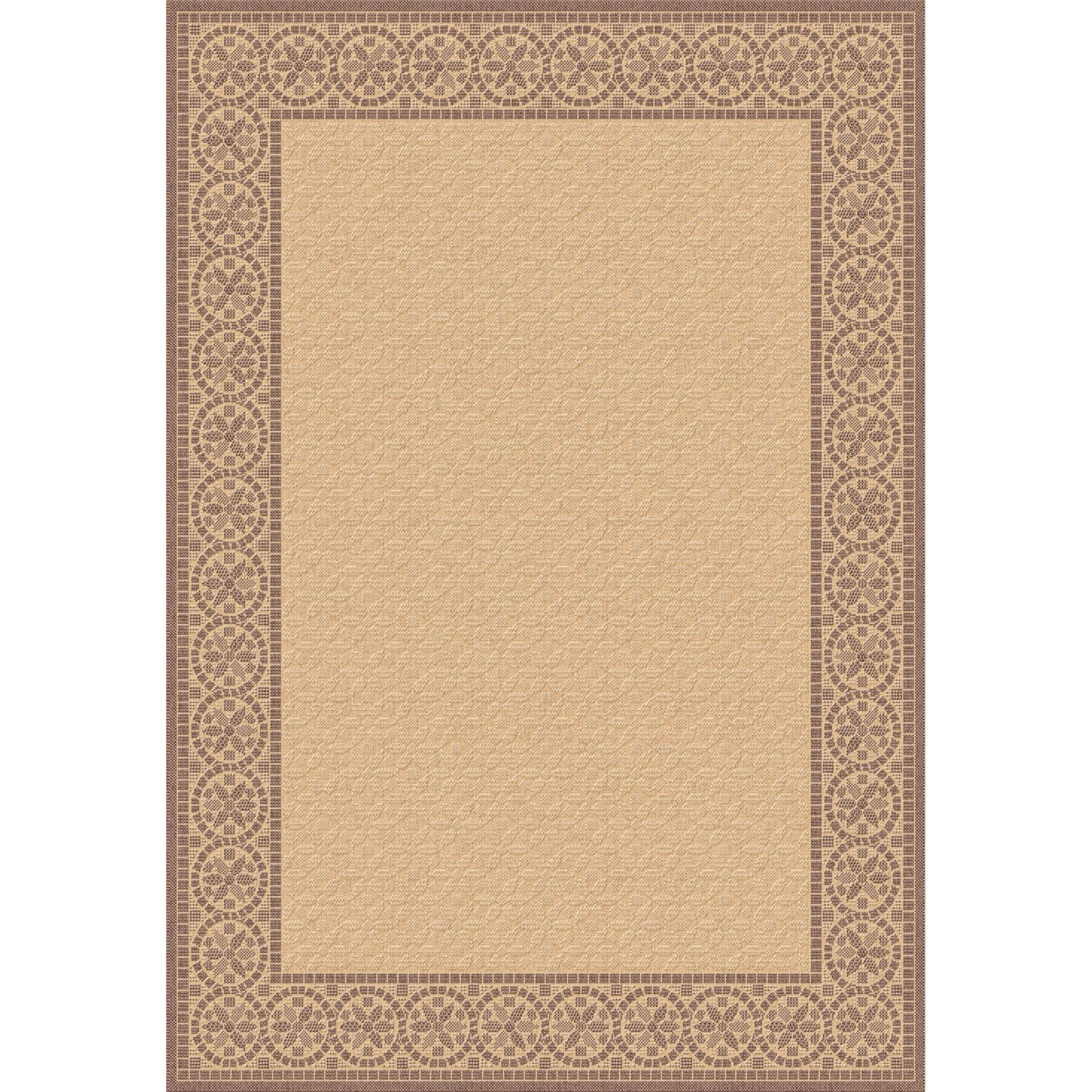 Dynamic Rugs Piazza Mosaic Indoor/Outdoor Area Rug - Natural/Brown